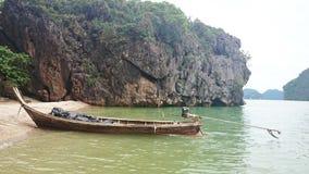 小船长尾巴泰国 库存照片