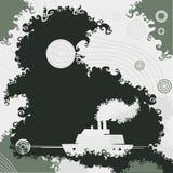 小船难看的东西背景 免版税库存图片