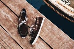 小船鞋子 免版税库存照片