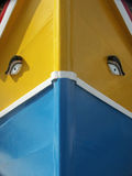 小船马尔他捕鱼的luzzo 免版税库存照片