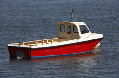 小船马达小木 免版税库存图片