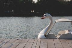 小船鸭子 免版税库存图片