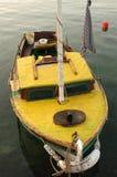 小船黄色 免版税库存照片