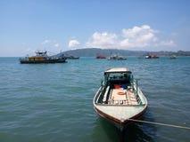 小船,亚庇,马来西亚 库存照片