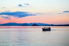 小船,科莫多岛海岛 免版税图库摄影