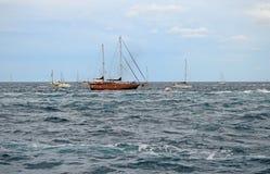 小船经典航行 库存图片