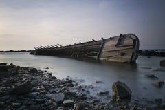 小船击毁 图库摄影