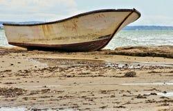 小船移民西西里岛 库存图片