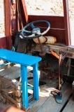 小船细节驾驶舱在柬埔寨 库存照片