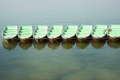 水小船 免版税库存照片