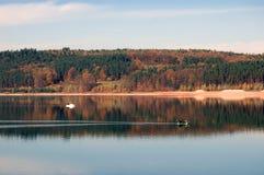 小船brombachsee湖 库存照片