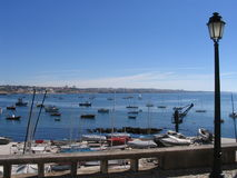 小船cais葡萄牙 库存照片