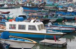 小船chau cheung捕鱼洪房子kong 库存照片