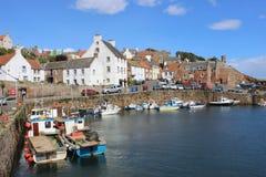 小船Crail港口, Crail,鼓笛,苏格兰 库存照片