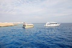 小船el红海sharm回教族长 免版税库存图片