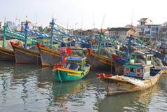 小船fishermans 免版税库存图片
