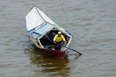 小船gili印度尼西亚在小附近的海岛lombock 免版税库存图片