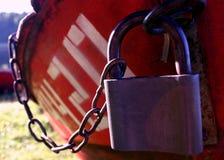 小船iv被锁定 图库摄影
