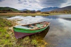 小船killarney湖 图库摄影