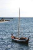 小船lofoten s varlberg 库存照片