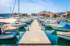 小船montenegro 免版税图库摄影