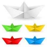 小船origami纸张 库存照片