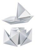 小船origami 皇族释放例证