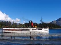 小船queenstown旅行 库存照片