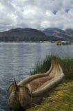小船titicaca 库存图片