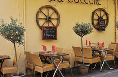 小艾克斯普罗旺斯的餐馆 库存照片