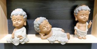 小菩萨雕象 免版税库存图片