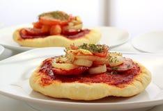 小薄饼的pizzette 免版税库存照片
