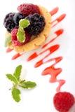 小蛋糕的果子 免版税库存图片