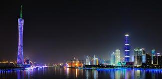 小行政区中心财务gz国际塔 免版税图库摄影