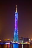 小行政区塔在晚上 免版税库存照片