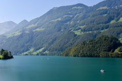 小行政区的上瓦尔登州湖龙疆在瑞士 库存图片