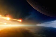 小行星冲击 免版税库存图片
