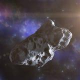 小行星在空间飞行 库存图片