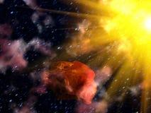 小行星天空星形 免版税库存照片
