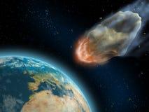 小行星影响 免版税图库摄影