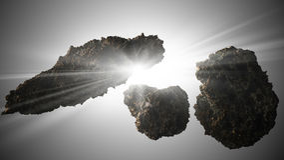 小行星背景星形 向量例证