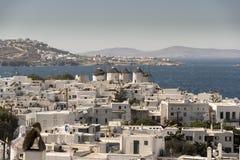 小街米科诺斯岛希腊 库存图片