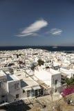 小街米科诺斯岛希腊 免版税图库摄影