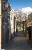 小街道在古镇 免版税库存照片