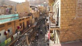 小街道在Jaisalmer市 股票录像