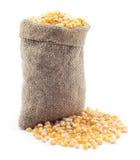 小袋子的玉米 图库摄影