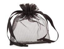 小袋子黑色纱的存在 库存照片