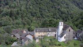小被忘记的传统村庄和教会 影视素材