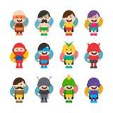 小超级英雄平的动画片 库存例证