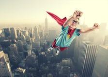 小超级英雄 库存图片